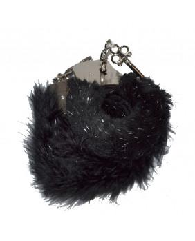 Menottes avec fourrure noire