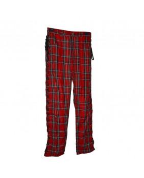 Pantalon écossais rouge Punk