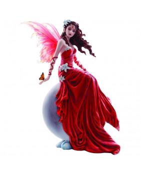 Figurine fée rouge et blanche Crimsonlily