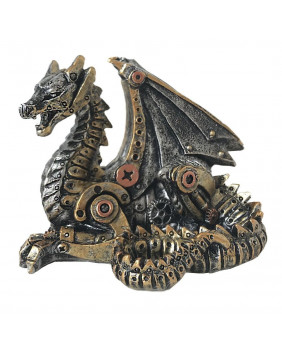 Statuette dragon steampunk Mechanical Hatchling
