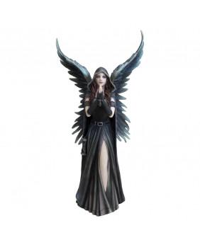 Statuette gothique ange noir Harbinger