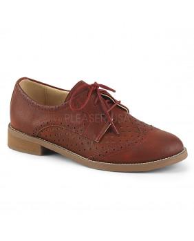 Chaussures Vintages rétro rouges à talons HEPBURN-26 Pin Up Couture