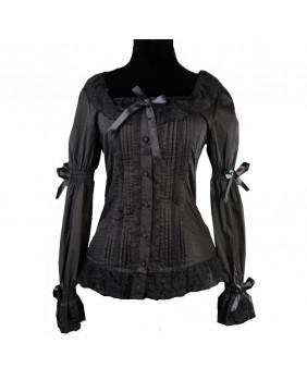 Chemisier noir gothique victorien lolita