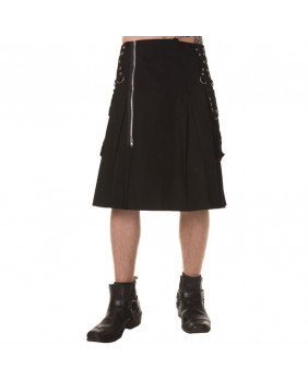Kilt noir homme Dead Threads