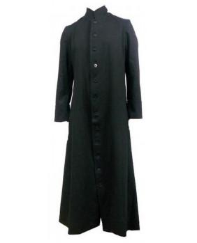 Manteau gothique soutane noire