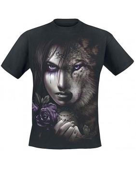 T-Shirt gothique homme Wolf Soul