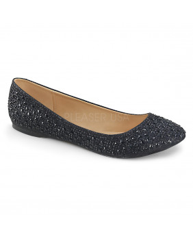 Ballerines fashion noires Fabulicious TREAT-06