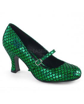 Funtasma MERMAID-70 escarpins holographiques verts à talons hauts