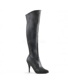 Bottes fashion noires à talons aiguilles Pleaser VANITY-2013