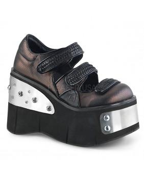 Chaussures plateformes Gothiques étains Demonia KERA-13