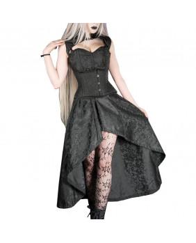 Robe longue gothique victorienne noire