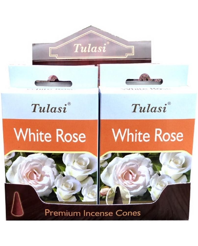 Encens cône Roses blanches Tulasi