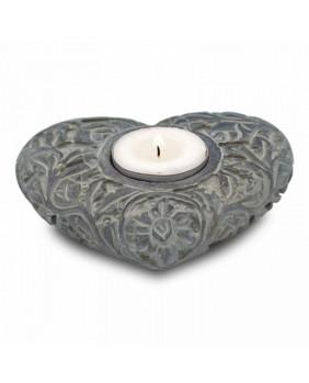 Brûle encens coeur pierre ollaire naturelle