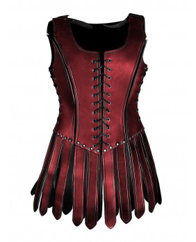 Armure Gladiatrice de cuir noir