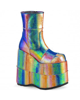 Demonia STACK-201 bottes plateformes Cyber gothic multicolores