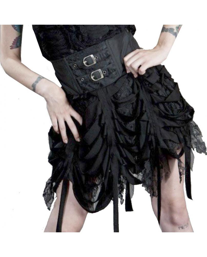 Jupe gothique noire Shadow