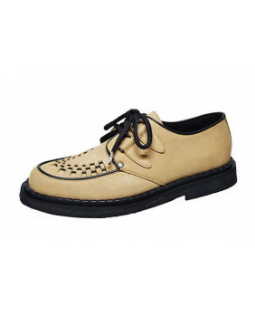Steelground creepers beiges en cuir
