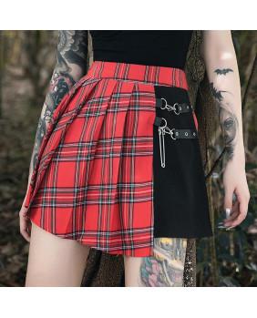 Jupe gothique punk noire et écossaise