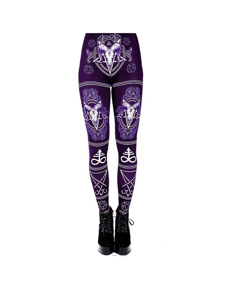 Legging gothique violet Demon