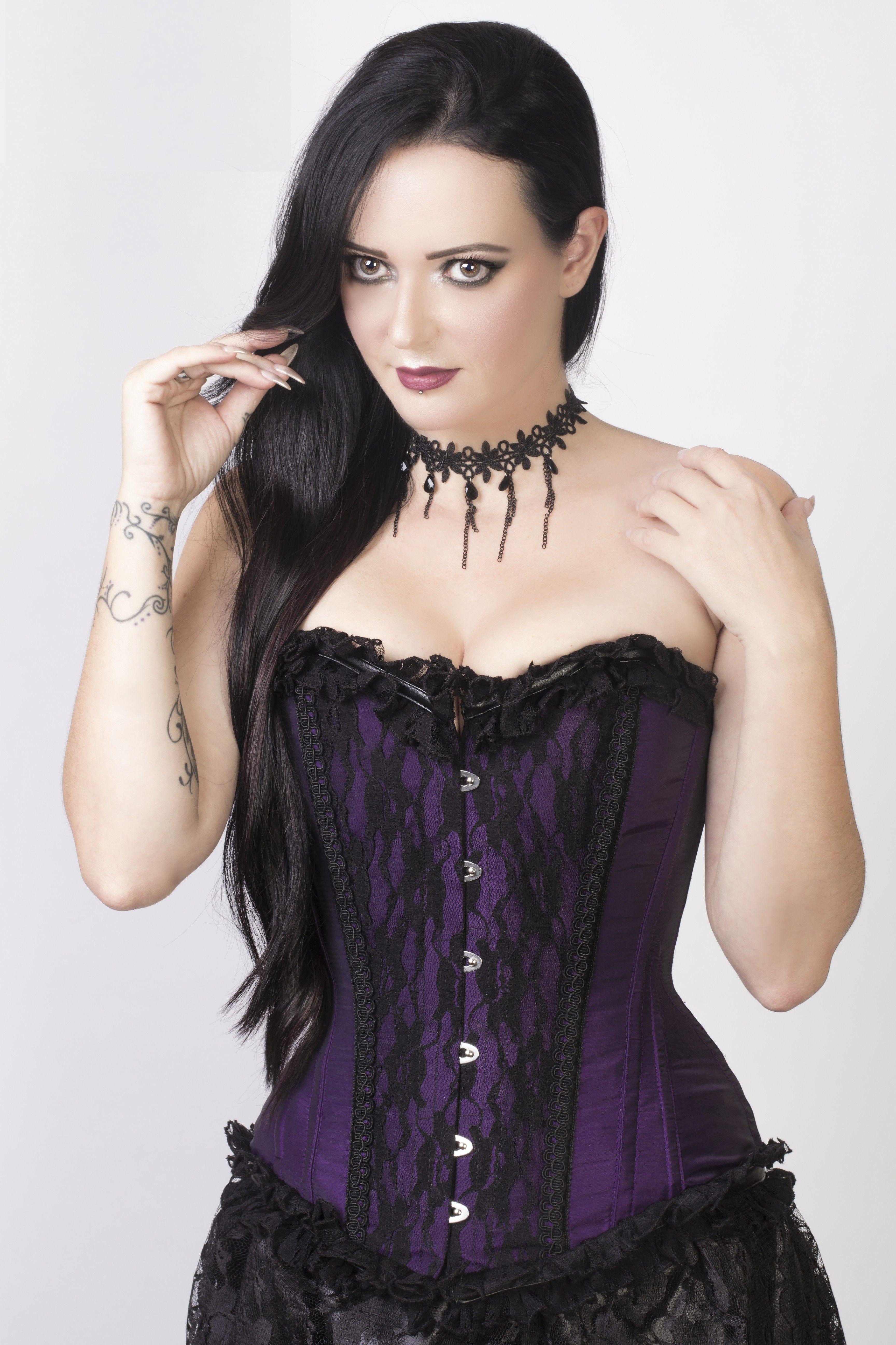 Bustier corset gothique