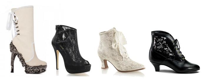 Chaussure mariage gothique