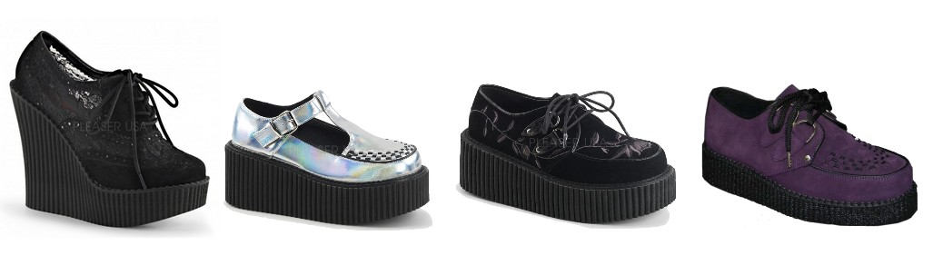 Chaussures creepers femmes