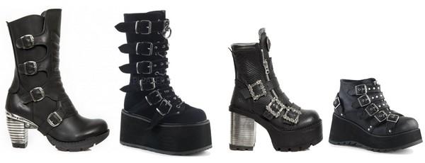 Chaussures gothiques rock femme