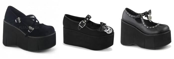 Chaussures plateformes gothiques Demonia femme