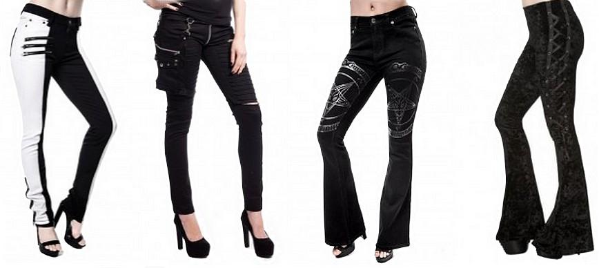 Pantalon gothique femme