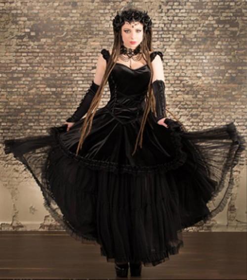 Robe longue gothique