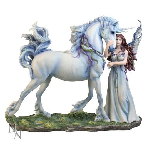 Statuette licorne et fée