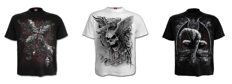 Tee shirt gothique homme